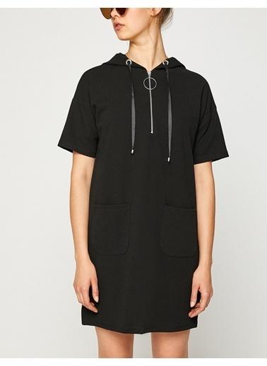 Kapüşonlu Elbise-Koton